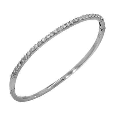 grande scattered bangle nicolehd rose eternity jewelry diamond products bracelet bangles